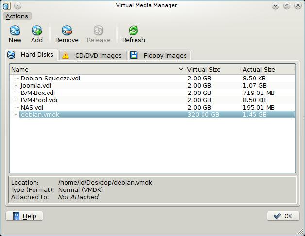 Convert VMware Image  vmdk to VirtualBox Image  vdi