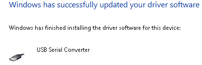 Driver Installed