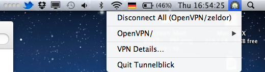 Mac OS X OpenVPN with Tunnelblick