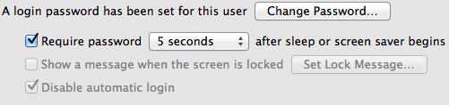 Lock-Configuration