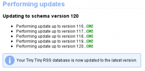TTRSS DB-Update