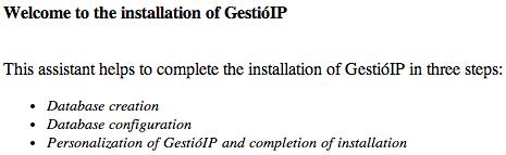 gestioIP Install